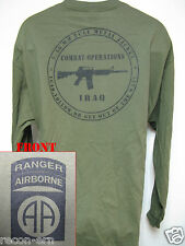 82nd AIRBORNE RANGER LONG SLEEVE T-SHIRT/ IRAQ COMBAT OPS / MILITARY/   NEW