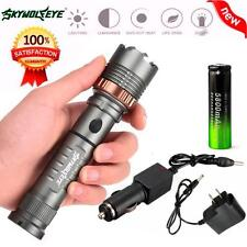5000LM CREE XM-L T6 LED Tactical Flashlight Torch Lamp+18650 Battery+Charger