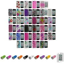 For iPhone 4S 4 Bling Rhinestone Diamond Hard Cover Case+Car Charger+LCD