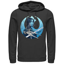 Star Wars Rogue One Jyn Erso Rebel Crest Mens Graphic Lightweight Hoodie