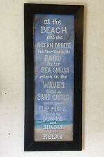 Ocean rules toes in sand sea shells beach waves sand castles sunrise sunset sign