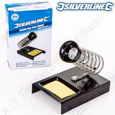 METAL SILVERLINE SOLDERING IRON STAND + CLEANING PAD Hobby/DIY/Spring/Electronic