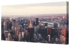 New York City Skyline Scene Panorama Box Framed Canvas Print Wall Art Picture A1