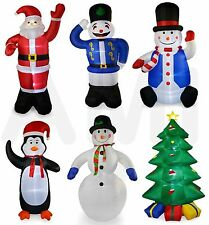 4ft, 8ft OR 11ft Inflatable Christmas Blow Up Decorations Snowman Santa Penguin