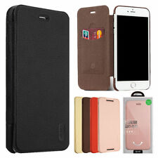 For iPhone 7 6s Plus Slim Ultra Thin Wallet Card Slot PU Leather Flip Case Cover