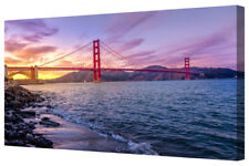 Golden Gate Ocean Bridge LARGE Coastline Sunrise Panorama Canvas Print Wall Art