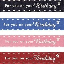 Natural Charms Celebrate For You On Your Birthday Berisfords Ribbon 4m x 15mm