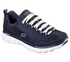 11967 Navy Skechers Shoes Memory Foam Women New Athletic Sporty Walking Sneaker