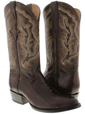 mens brown smooth real ostrich foot leg leather cowboy boots western rodeo