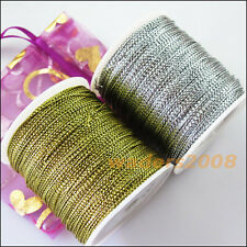1 New Gold Silver Metallic Gifts Cords All Occassion Beading String Gift threads
