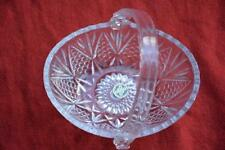 HOYA CORPORATION JAPAN Vintage CRYSTAL BASKET Collectable~Quality Shabby Chic