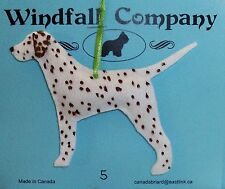 Liver Spotted Dalmatian Dog Velour Plush Christmas Canine Ornament by WC # 5
