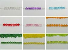 1000 Transparent Acrylic Faceted Bicone Spacer Beads 4X4mm Pick Your Color