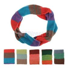 Fashion Warm Women Colorful Knitting Wool Neck Circle Wool Snood Scarf Wrap