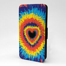 Colourful Heart Print Design Pattern Flip Case Cover For Apple iPhone - P146