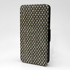 Abstract Metal Print Design Pattern Flip Case Cover For Apple iPhone - P416