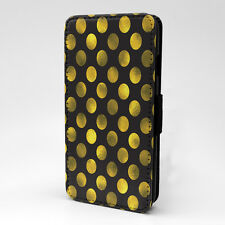 Polka Dots Print Design Pattern Flip Case Cover For Apple iPhone - P324