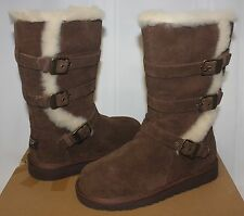 Ugg Kids Maddi Chocolate Brown Suede Boots NEW