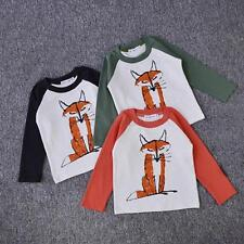 Toddler Kids Baby Boys Girsl Hoodie Pullover T-Shirt Long Sleeve Print Tee Tops
