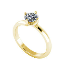 .50ct Solitaire Round Brilliant Cut Ring Certified Natural Diamond 18ct Gold 105