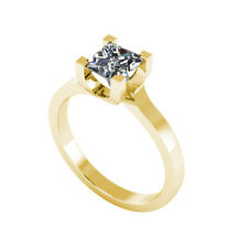 .50ct Solitaire Princess Cut Ring Certified Natural Diamond 18ct Gold FW110