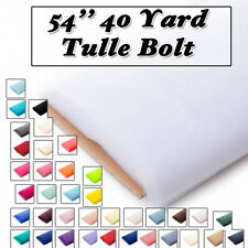 54'' 40 Yard Tulle Bolt 100% Polyester Tulle Bolt Fabric by Bolt Style - 0801