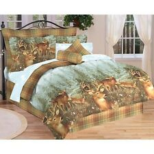 Northwood Woodland Lodge Cabin Deer Creek Bed In a Bag Comforter Sheet Set