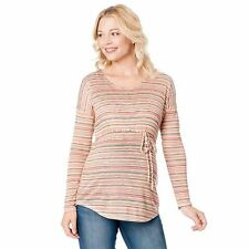 Oh Baby-by-Motherhood-Print-Drop-Shoulder-Tee-Maternity-Sz-S M  L & X-Large-NWT