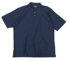 Reebok Golf Men's 3 Button Mercerized Pima Cotton Polo Shirt, Navy