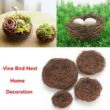 Handmade Vine Brown Bird Nest House Home Nature Craft Holiday Decoration JYT
