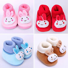 Newborn Baby Infant Toddler Boy Girl Xmas Snow Boots Crib Shoes Prewalkers 0-18M