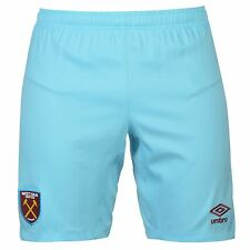 Umbro West Ham United FC Away Shorts 2016 2017 Mens Blue Football Soccer