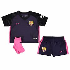 Nike FC Barcelona Away Kit 2016 2017 Infants Baby Football Soccer Jersey Shorts