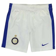 Nike Inter Milan Away Shorts 2016 2017 Juniors White/Blue Football Soccer