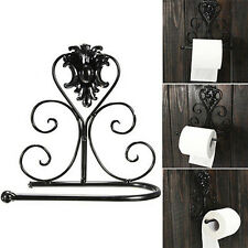 1Vintage Retro Iron Toilet Paper Towel Roll Holder Bathroom Wall Mount Rack FvD