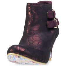 Irregular Choice Think About It Womens Ankle Boots Burgundy New Shoes