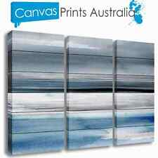 BEACH STRETCHED CANVAS ART ABSTRACT OCEAN SURF SET OF 3 PRINTS MORE IN OUR STORE