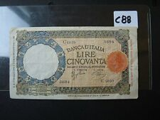 BANKNOTE BANKNOTE ITALY 1943 50 LIRE        C88