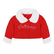 Baby Girls Christmas Outfits Polka Dots Dress Coat Party Holiday Costume Dress