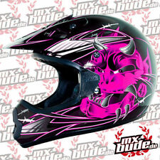 THH Motocross Kids Helmet 2014 TX-10 ARROW black-Pink Motocross Enduro Cross