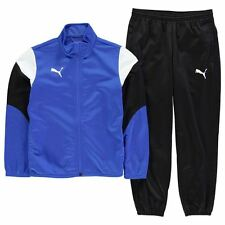 Puma Childrens Poly Tracksuit Boys Stretchy Sport Active Bottoms Top Clothing