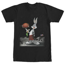 Looney Tunes Bugs Bunny Moon Basketball Mens Graphic T Shirt