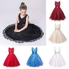 Kids Girls Party Flower Baby Formal Wedding Bridesmaid Pageant Christening Dress