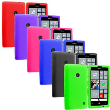 For Nokia Lumia 520 Silicone Soft Rubber Skin Case Cover Color Accessory