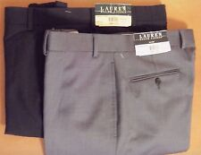 Ralph Lauren Wool Dress Pants For Men Classic Flat Front Style Trousers NWT $125