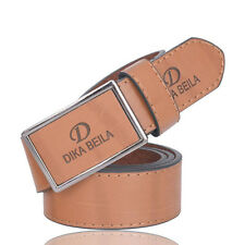 New Luxury Mens Leather Smooth Pin Buckle Casual Fashion Waist Strap Belts