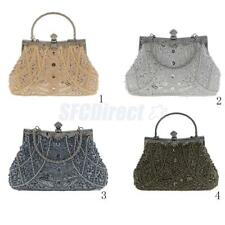New Women Lady Crystal Beads Party Purse Clutch Evening Bag Bridal Handbag Pouch