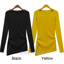 2016 Style Popular Womens T-Shirt Casual Round Collar Long Sleeve Autumn/spring