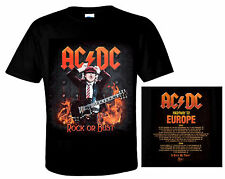 AC/DC Official T-Shirt HIGHWAY TO EUROPE HEAVY METAL ROCK N Roll ACDC Angus