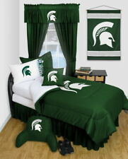 Michigan State Spartans Comforter Sham Curtains Valance Twin Full Queen LR
